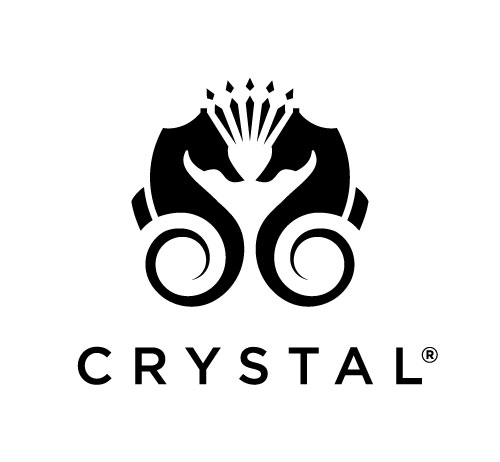 Crystal Cruises sea horse logo.